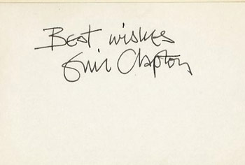eric clapton opinions please autograph live. Black Bedroom Furniture Sets. Home Design Ideas